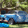Blue Car On The Bayou by Heather S Huston