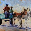 Blue Cart by Yvonne Ankerman