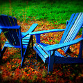 Blue Chairs by Perry Webster