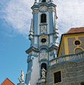 Blue Church Tower In Durnstein by Bob Phillips