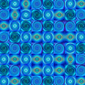 Blue Circles Abstract Art By Sharon Cummings by Sharon Cummings