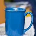 Blue Coffee Cup by Donald  Erickson