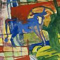 Blue Cow by Franz Marc