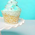 Blue Cupcake by Elizabeth Wilson