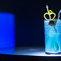 Blue Curacao Cocktail Drink With Cherry by Jacek Malipan