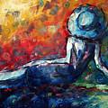 Blue Daze Original Madart Painting by Megan Duncanson