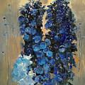 Blue Delphiniums For Nancy by Glenn Secrest