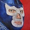 Blue Demon Jr by Nancy Almazan