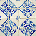 Blue Diamond Flower Tiles by For Ninety One Days