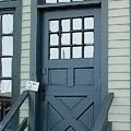 Blue Door At The Seaport by RC deWinter