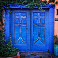 Blue Door In Old Town by Diana Powell