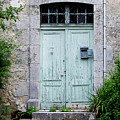 Blue Door In Vianne France by Marion McCristall