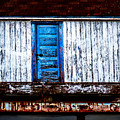 Blue Door Old Mill Building by Donna Lee