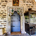 Blue Door On Stone Church In The Zagori, Greece by Global Light Photography - Nicole Leffer
