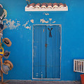 Blue Doors In Mexico by Mary Pearson
