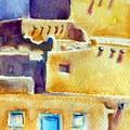Blue Doors Of The Taos Pueblo by Diane Binder