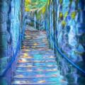Blue Dream Stairway by Frank Lee Hawkins