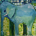 Blue Elephant by Donna Howard