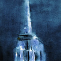 Blue Empire State Building by Beverly Brown