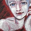 Blue Eyes - Portrait Of A Woman by Carmen Tyrrell