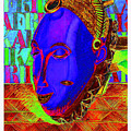 Blue Faced Mask by Ronald Rosenberg