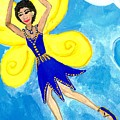Blue Fairy Detail Of Duck Meets Fairy Ballet Class by Sushila Burgess