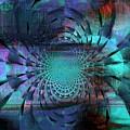 Blue Fleur by Fania Simon