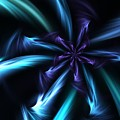 Blue Floral Fractal 12-30-09 by David Lane