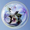 Blue Flower Orb by Phyllis Denton