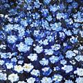 Blue Flowers by Evelina Popilian