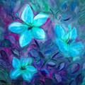 Blue Flowers by Gina De Gorna