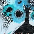 Blue Flowers In A Vase by Irina Rumyantseva