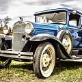 Blue Ford Model A Car by Edward Fielding