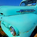 Blue Ford Pickup Truck by Michael Thomas
