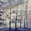 Blue Forest In Winter by Gulina Oksana