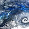 Blue Fractal Storm by Wil Oblique