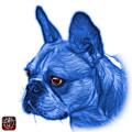 Blue French Bulldog Pop Art - 0755 Wb by James Ahn