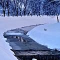 Blue Frozen River by Nina Ficur Feenan
