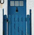 Blue Gate And Door On White House by Bob Phillips