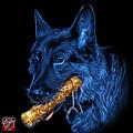 Blue German Shepherd And Toy - 0745 F by James Ahn