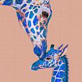 Blue Giraffes 2 by Jane Schnetlage