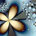 Blue Gold 4 by Vicky Brago-Mitchell