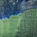 Blue/green Abstract Two by David Waldrop