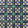 Blue Green Lisbon Tiles Souvenirs by For Ninety One Days