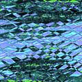 Blue Green Ocean Abstract by Ludek Sagi Lukac