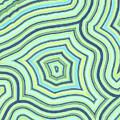 Blue Green Pattern Play by Jill Lenzmeier