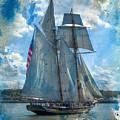 Blue Grunge Ship 2015 by Kathryn Strick