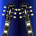 Blue Guitar Reflections by Bigalbaloo Stock