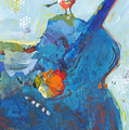 Blue Guitar With Bird by Shelli Walters