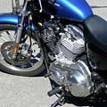 Blue Harley by Attila Jacob Ferenczi
